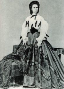 L'imperatrice Elisabetta fotografata nel 1862