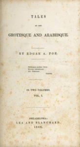Prima pagina dei Racconti del grottesco e dell'arabesco