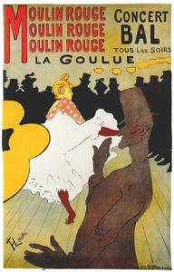 Moulin Rouge - La Goulue manifesto di Henri de Toulouse-Lautrec del 1891.
