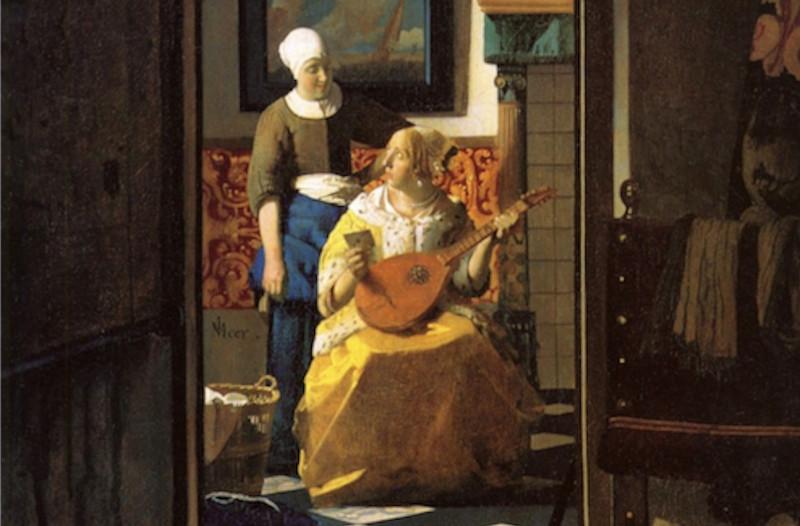 """Vermeer e """"La Lettera d'Amore"""" rubata"""
