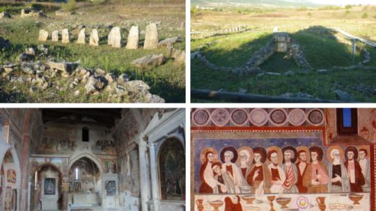Fossa, tra antiche necropoli e affreschi medievali